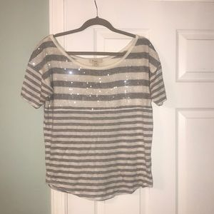 Size M Forever 21 Stripes and Sequin Top